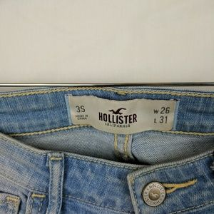 Hollister Jeans - Hollister Light Wash Distressed Boot Cut Jeans